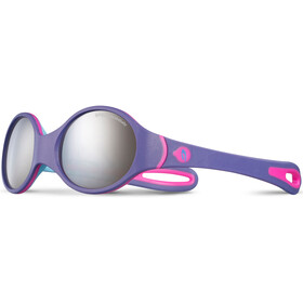 Julbo Loop Spectron 4 Sunglasses 2-4Y Kids, purple/sky blue/fluorescent pink-gray flash silver